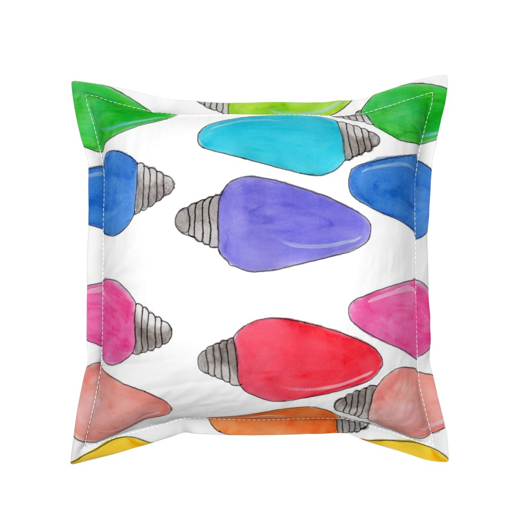 Serama Throw Pillow featuring Color Bulbs by designergal