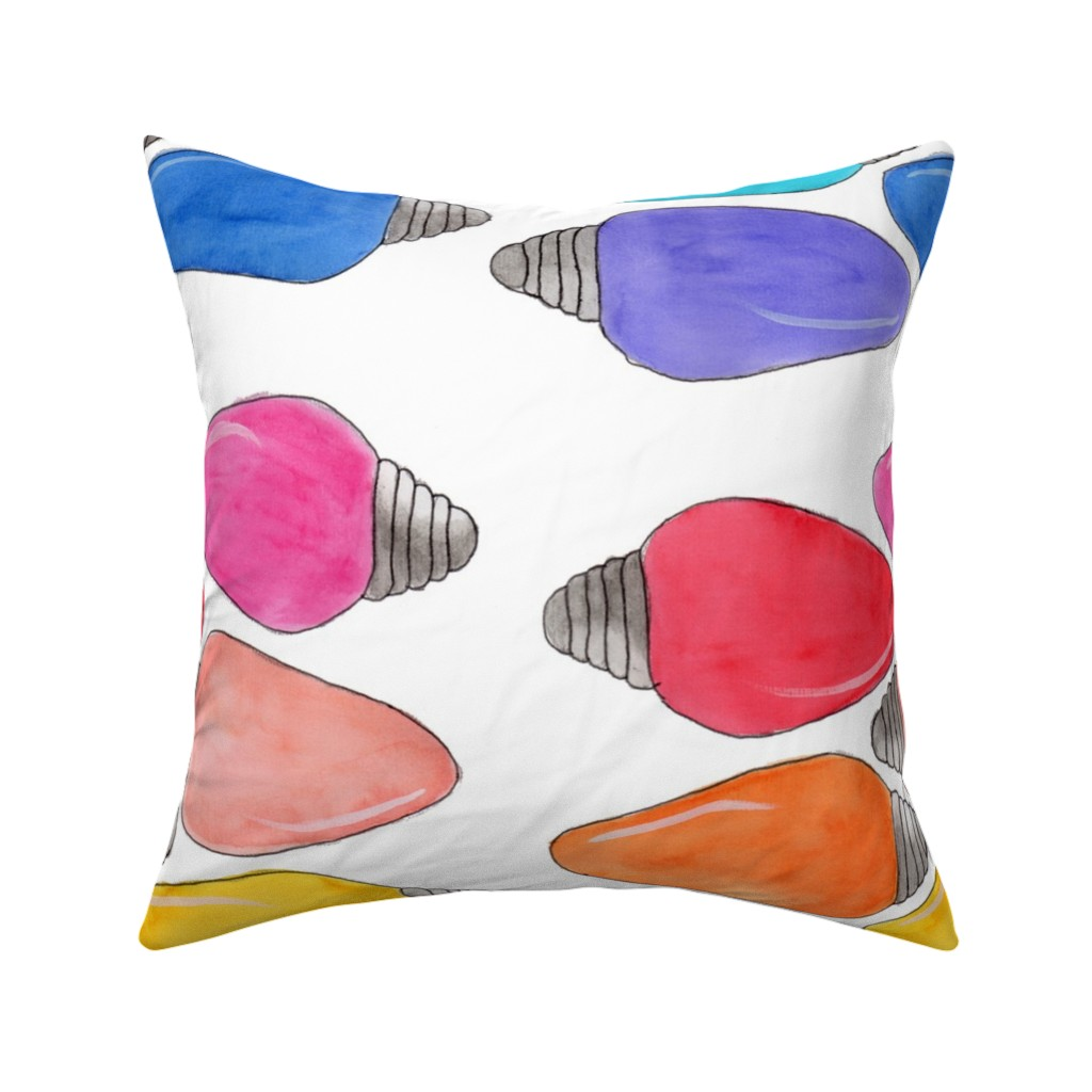 Catalan Throw Pillow featuring Color Bulbs by designergal