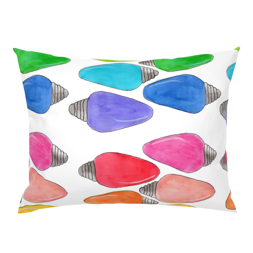 Campine Pillow Sham featuring Color Bulbs by designergal