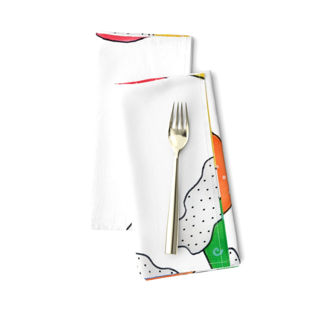 Amarela Dinner Napkins featuring Mittens by designergal