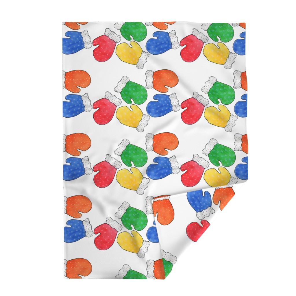 Lakenvelder Throw Blanket featuring Mittens by designergal