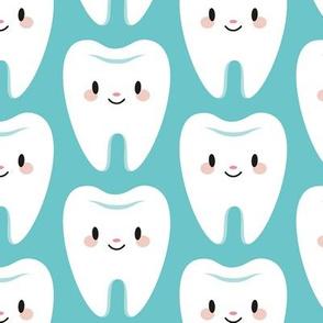 Cute molar teeth (blue)