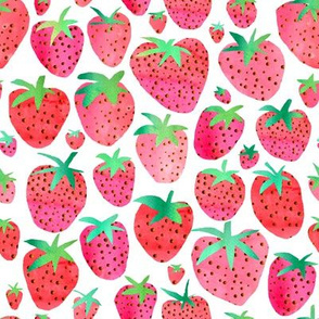 Watercolour Strawberries