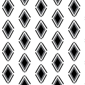 Diamonds - Black & White