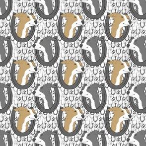 Italian Greyhound horseshoe portraits