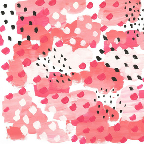 Painterly Watermelon Abstract Pinks
