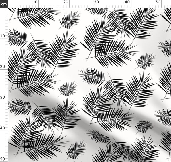Palm Leaf Black And White Monochrome Spoonflower Find the best free stock images about tropical leaves. fabric by the yard palm leaf black and white monochrome palm leaves palm tree tropical summer beach by sunny afternoon