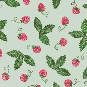 Christmas strawberries on seafoam