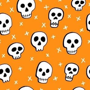 Halloween Skulls Orange