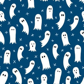 Halloween Ghosts Blue