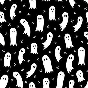 Halloween Ghosts Black