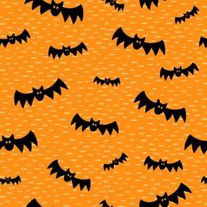 Halloween Bats on Orange