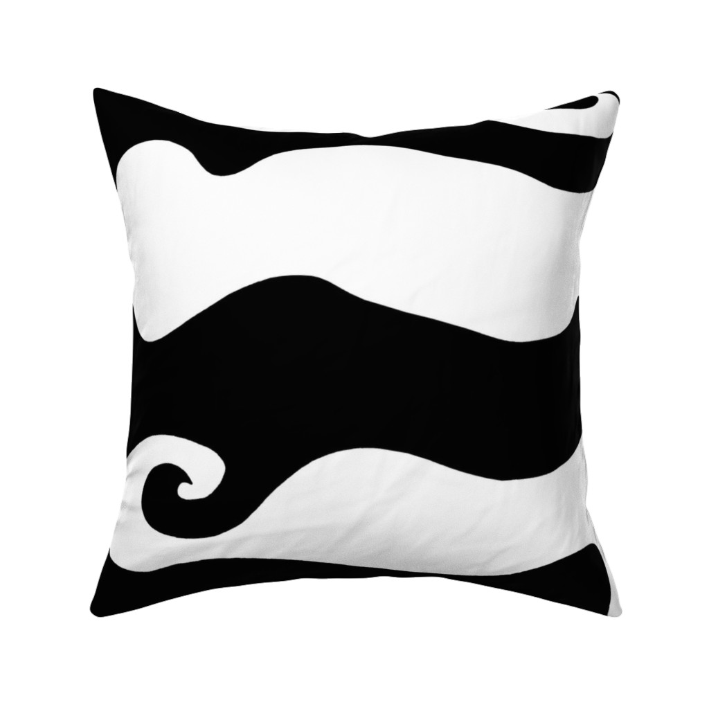 Catalan Throw Pillow featuring BW Swirly Wave by designergal