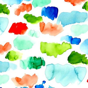 Watercolor Color Swatches
