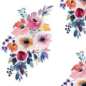 Fall flower watercolor bouquet
