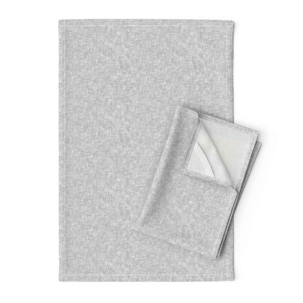Orpington Tea Towels featuring light grey linen solid by littlearrowdesign