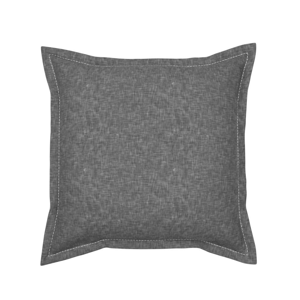 Serama Throw Pillow featuring grey linen solid by littlearrowdesign