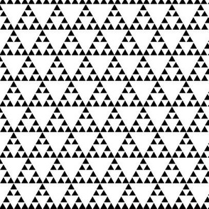 Tribal Triangle in Black and White