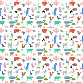 Colorful Wild Animals