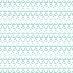 Tribal Triangle in Mint - SMALL