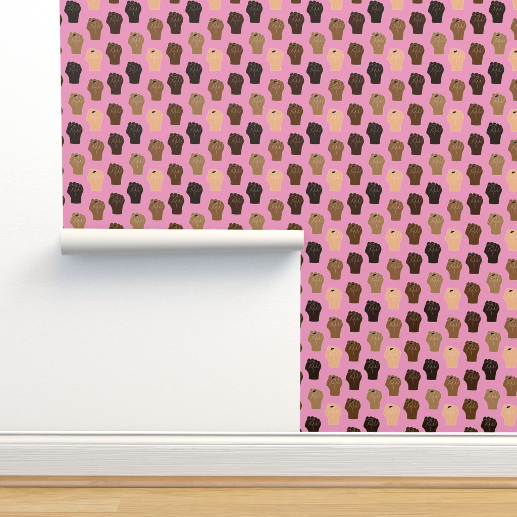 Isobar Durable Wallpaper featuring Black Lives Matter Small Scale by ashleysummersdesign