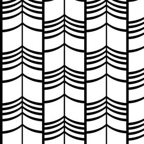 Arrow Columns | White-and-Black Large