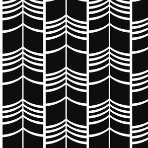 Arrow Columns | Black-and-White Large