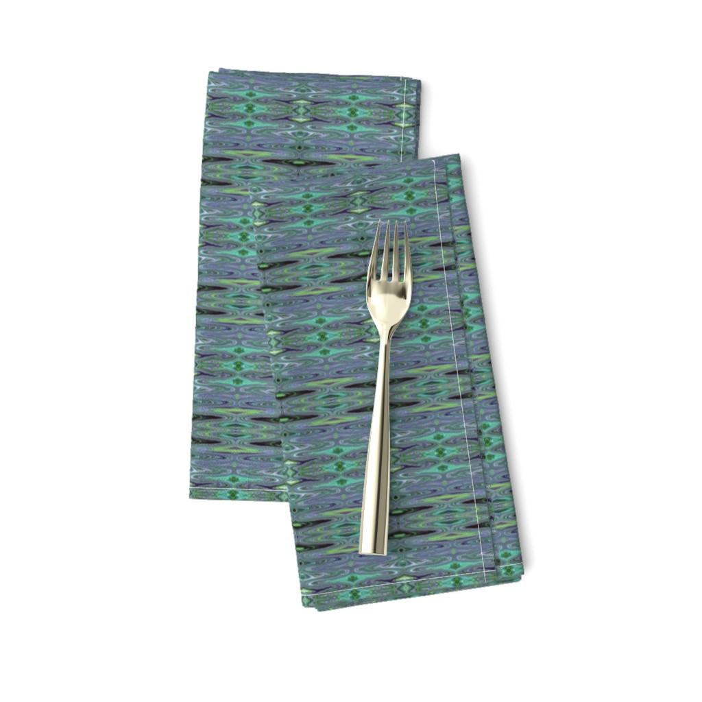 Amarela Dinner Napkins featuring DSC2 - Small - Dali Dreams in Aqua - Lavender - Purple - Lime Green - Crosswise   by maryyx