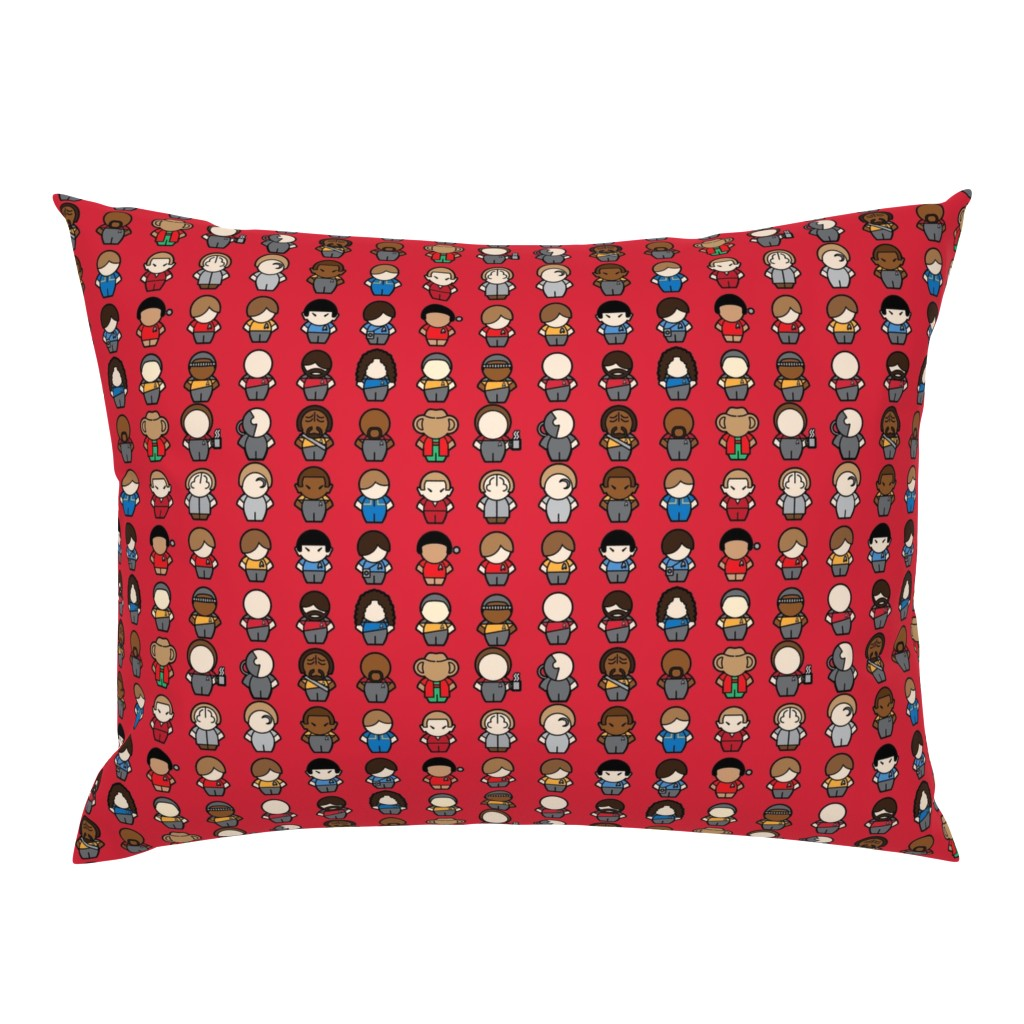 Campine Pillow Sham featuring To Boldy Go... (red) by studiofibonacci