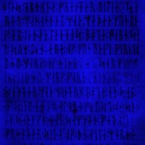 Codex Runicus Blue fuzzy