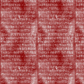 Codex Runicus In Red with White runes