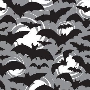 Night Watch - Halloween Bats Grey