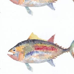 Watercolorful Rainbow Fish