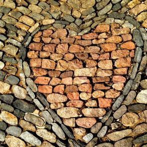 Scottish Castle Cobblestone Heart