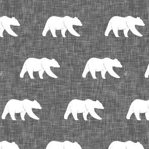 bear on linen (small scale)  || the lumberjack