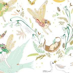 Enchanted Fairies (white)