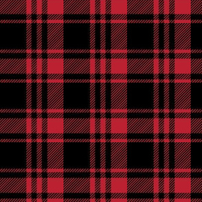 Black and Red Fall Plaid    the lumberjack