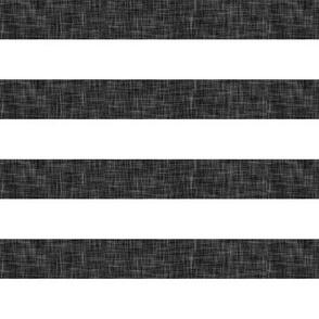"""linen stripe 1""""  - dark grey"""
