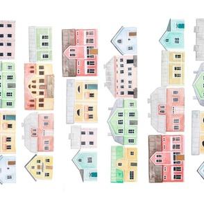 Scandinavian Pastel houses