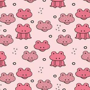 Quirky frog pura vida tropical jungle animals for kids pink girls