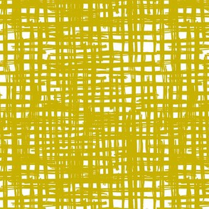 Raw grunge grid abstract brush strokes and stripes mix maze design ochre yellow