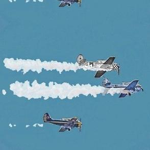 Zoom Planes Trio in Blue black gray