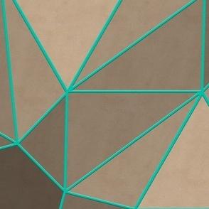 Origami Stars (Caribbean Green)