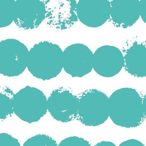 Circles and rows cool Scandinavian style dots brush strings soft water blue XL