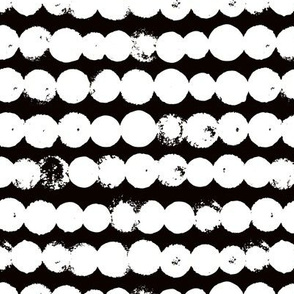 Circles and rows cool Scandinavian style dots brush strings gender neutral black and white M