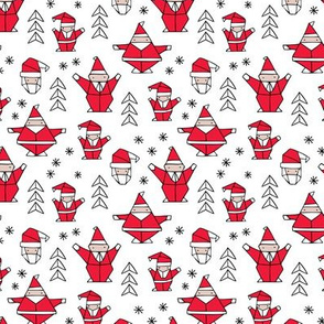 Origami decoration stars seasonal geometric december holiday and santa claus print design red black and white SMALL