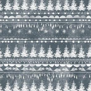 Vintage Christmas Stripe (ink)