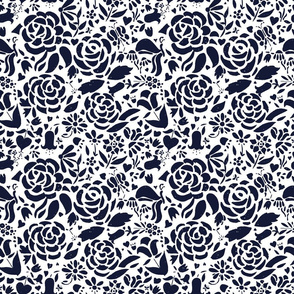 Navy and White Roses II