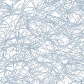 seamless crayon scribble in faded denim blue-grey