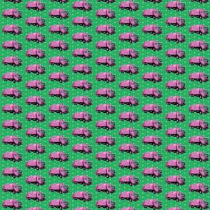 Pink Trash Garbage Trucks Green Stripe-ed-ed